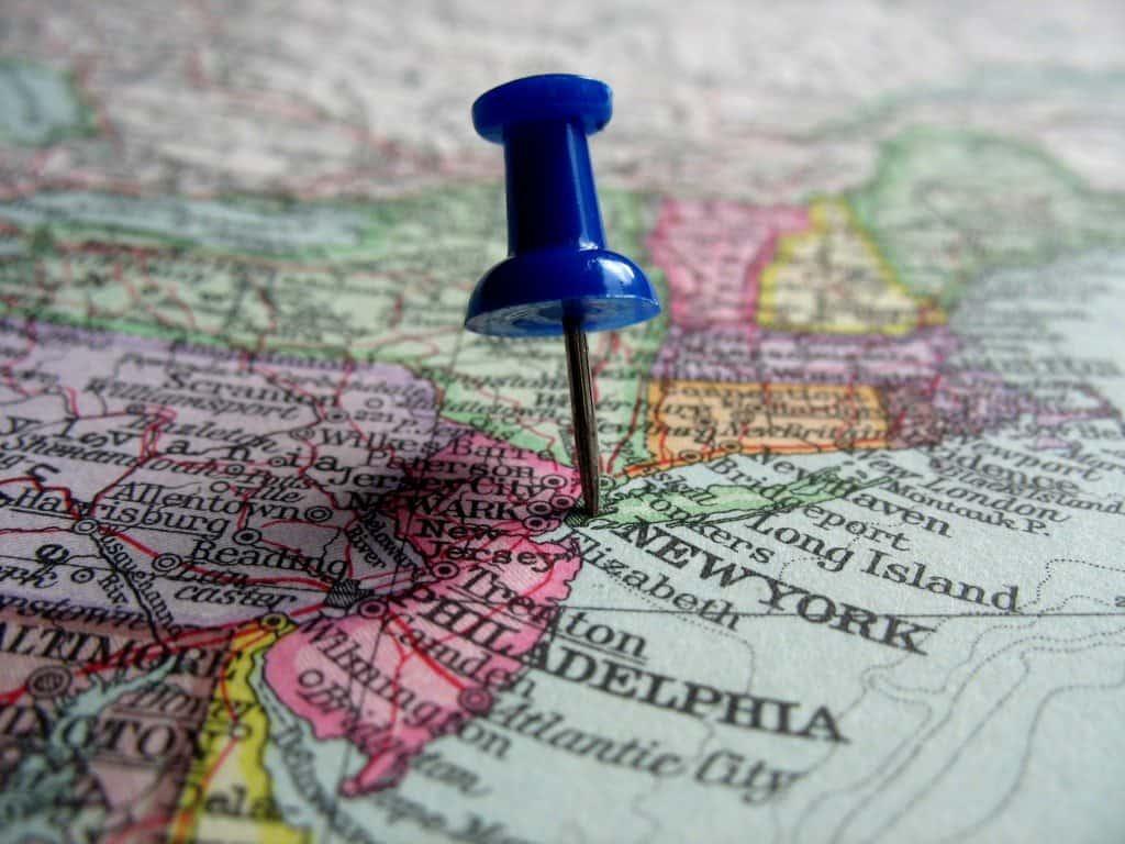 מפת ניו יורק New York Map